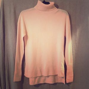 J. Crew relaxed wool turtleneck pink 16inch across